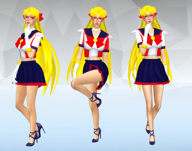 Sailor V - Dress + Hairstyle (Сейлор V - платье и прическа) by SilverMoon