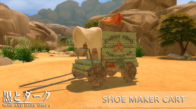 Shoe Maker Cart (Торговая тележка) by Noiranddarksims