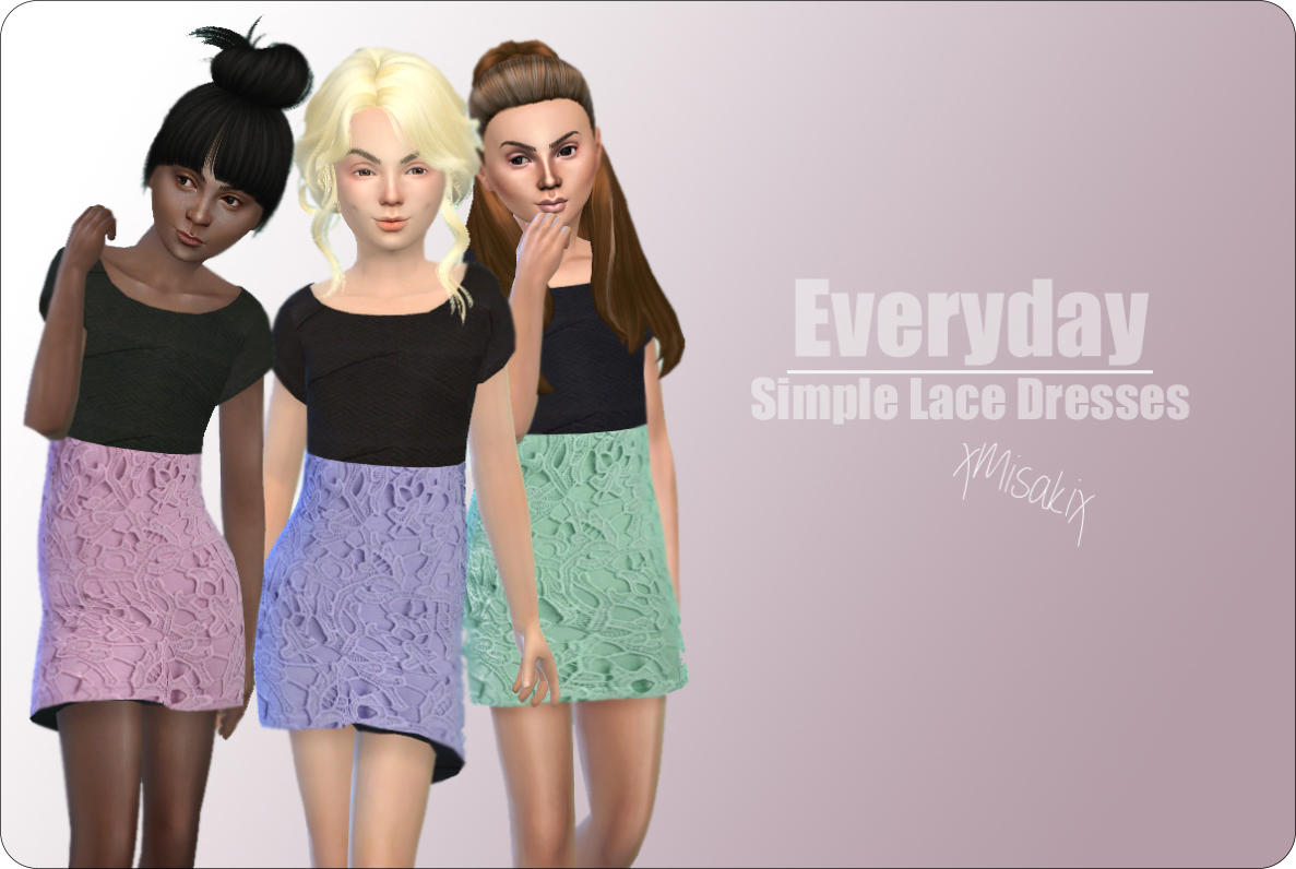 Simple Lace Dress for Girls by xMisakix