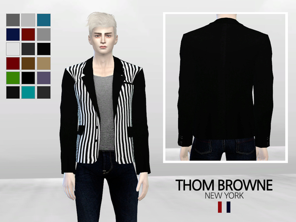 Narcissus Striped Fashion Blazer by McLayneSims