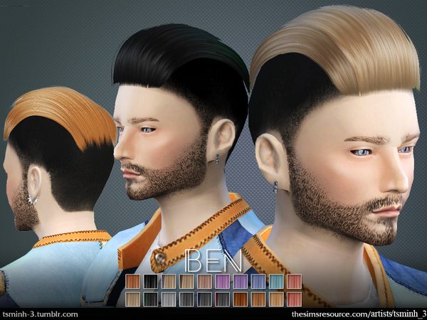 BEN  Hairstyle 4 by tsminh_3