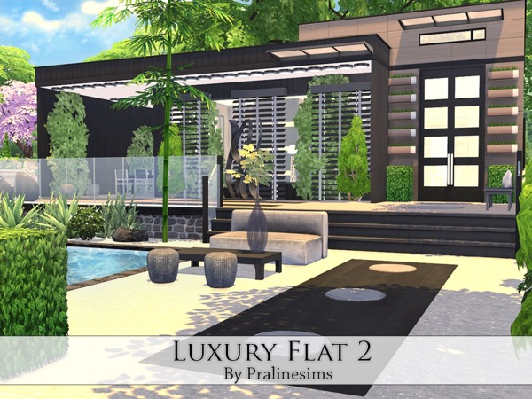 Luxury Flat 2 by Pralinesims