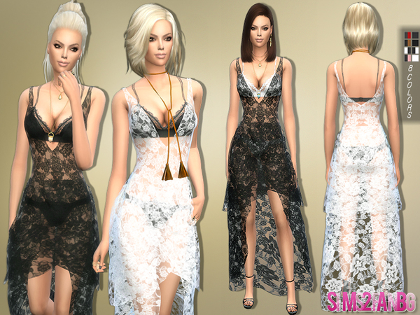 155 - Lace Dress Transparent by sims2fanbg