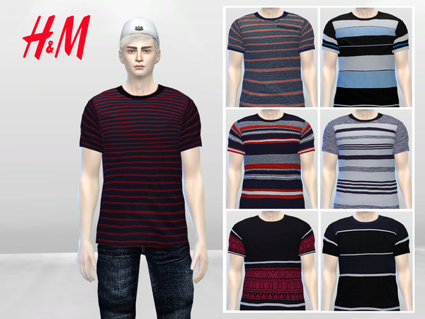 Boyish Stripes Large Tees by McLayneSims
