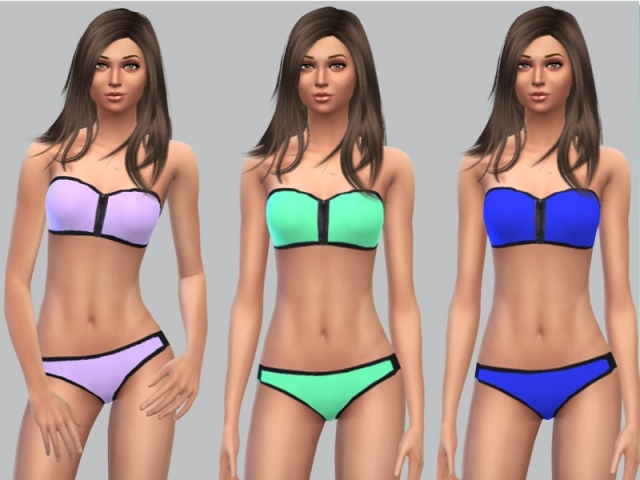 Bandeau Bikini Mix and Match by Mysterious_Sim