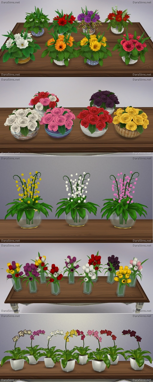 Flower Set [The Sims 4] by Dara Sims