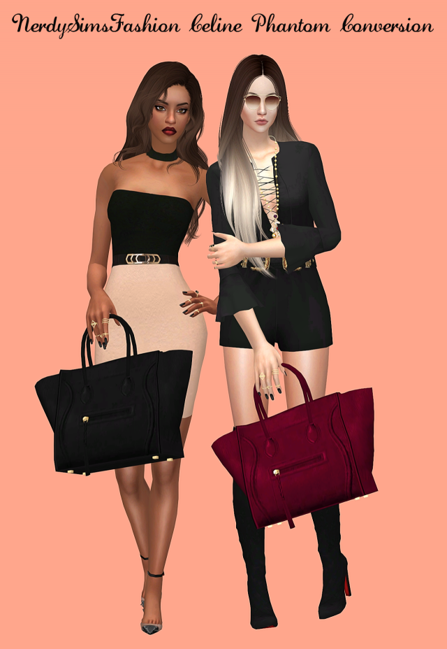 Celine Phantom Conversion by NerdySimsFashion