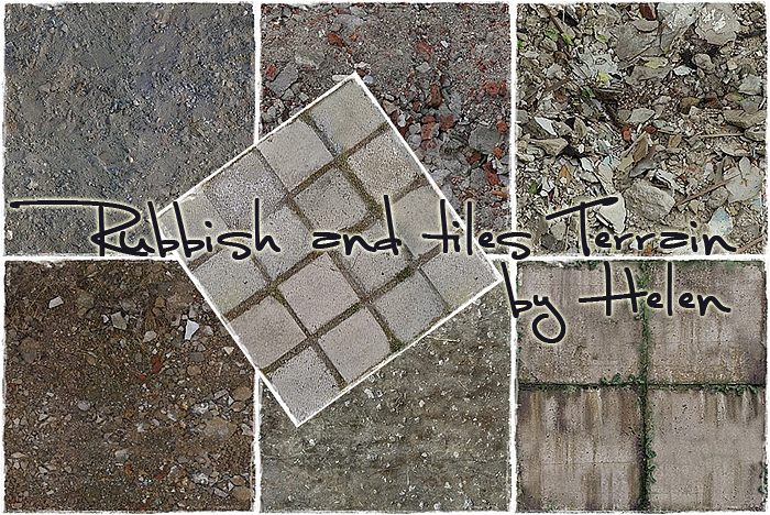 Rubbish and Tiles Terrain by Helen