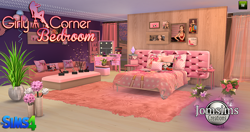 Girly Corner Bedroom Set by JomSims