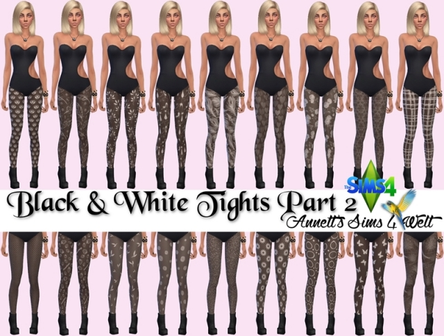Black & White Tights Part 2 by annett85