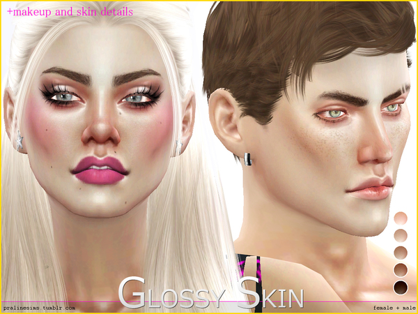 PS Glossy Skin by Pralinesims
