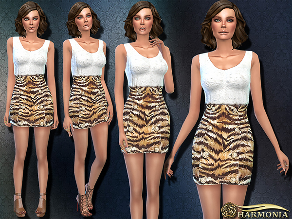 TS4 Fashionable Outfit 05 by Harmonia