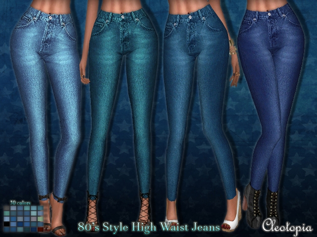 80s style (inspired) high waisted jeans by Cleotopia