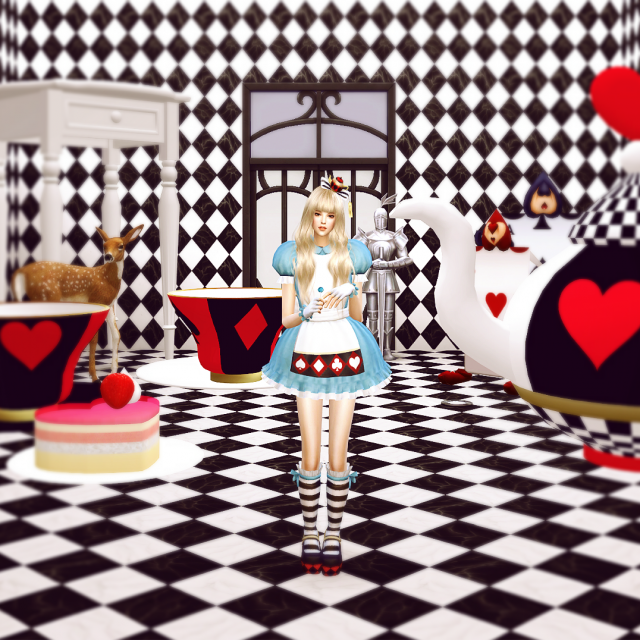 Marie Rose Alice in Wonderland Outfit Set от DominationKid