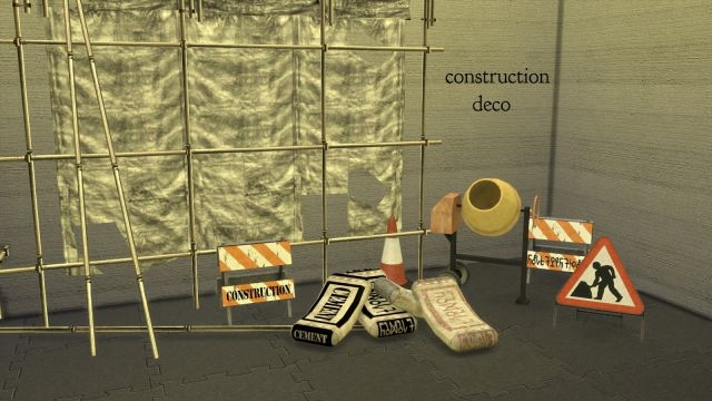 TS2 Construction Decor Conversions by Leo-Sims