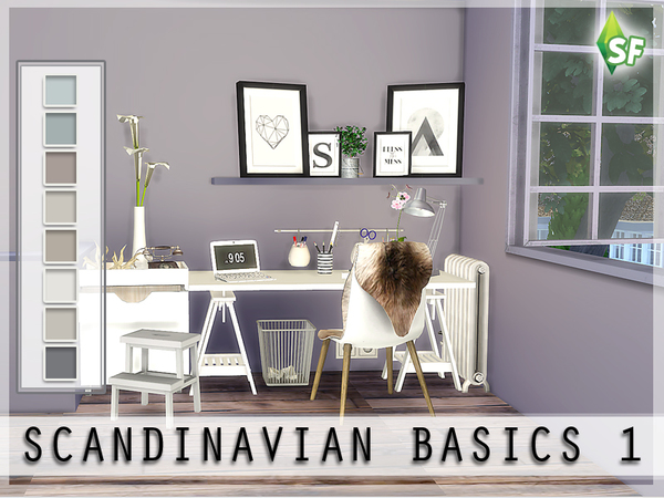 Scandinavian Wall Set by SimFabulous