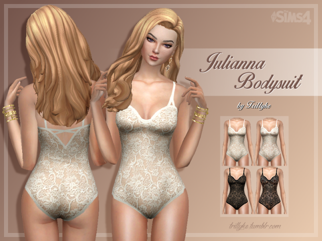 Julianna Bodysuit (2 versions) by Trillyke