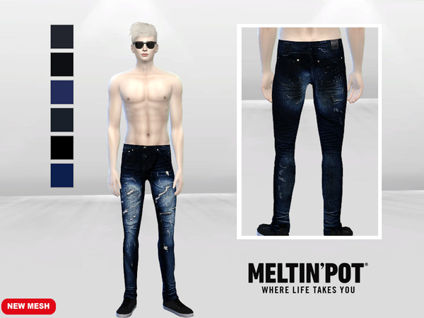 Roars And Thunder Denim Jeans by McLayneSims