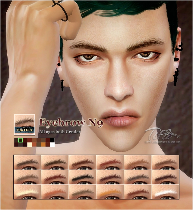 Eyebrows N9 for Males and Females by Tifa