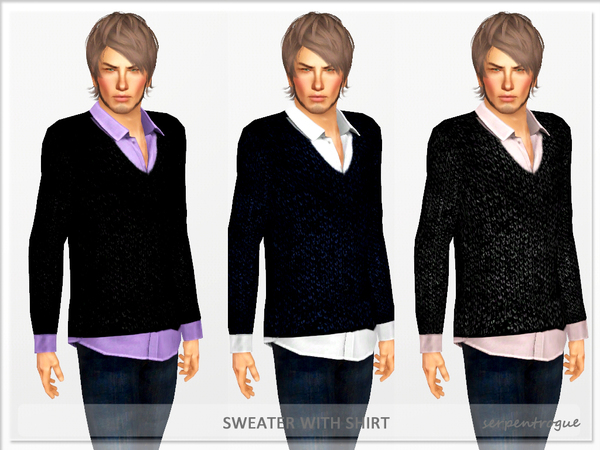 Sweater With Shirt by Serpentrogue