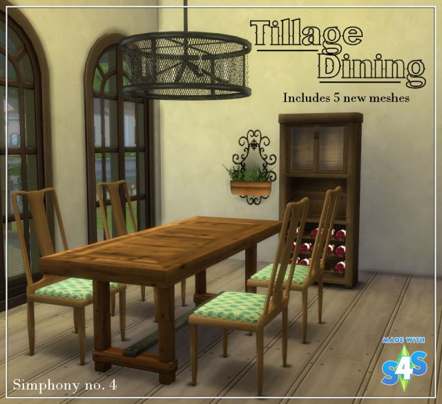 Tillage Dining Set - 5 New Meshes by SimphonyNumber4