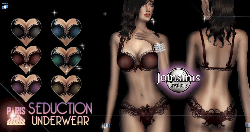 Seduction Underwear for Females by JomSims