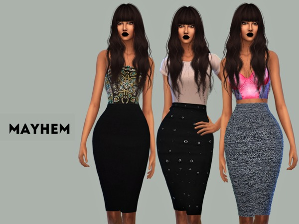 Mayhem Pencil Skirt Set 01 by NataliMayhem