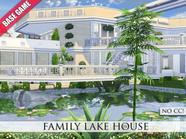 Family Lake House by Pralinesims