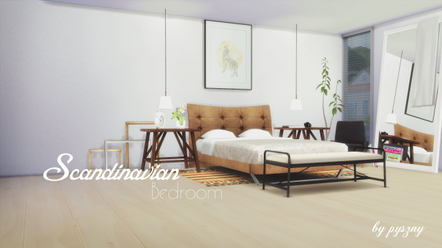 Scandinavian Bedroom by Pyszny