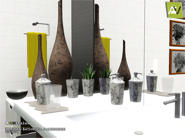 Bladjan Bathroom Accessories by ArtVitalex