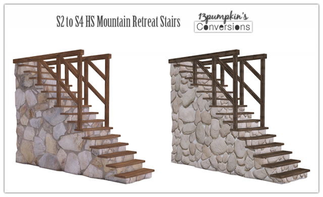 S2 to S4 HS Mountain Retreat Stairs (Deco) by 13pumpkin