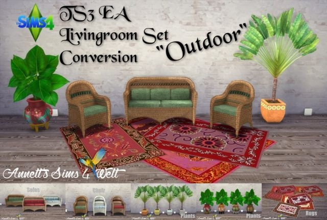 "TS3 EA Living Set ""Outdoor"" Conversion by Annett85"