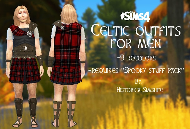 Celtic Men's Warrior Outfit by HistoricalSimsLife