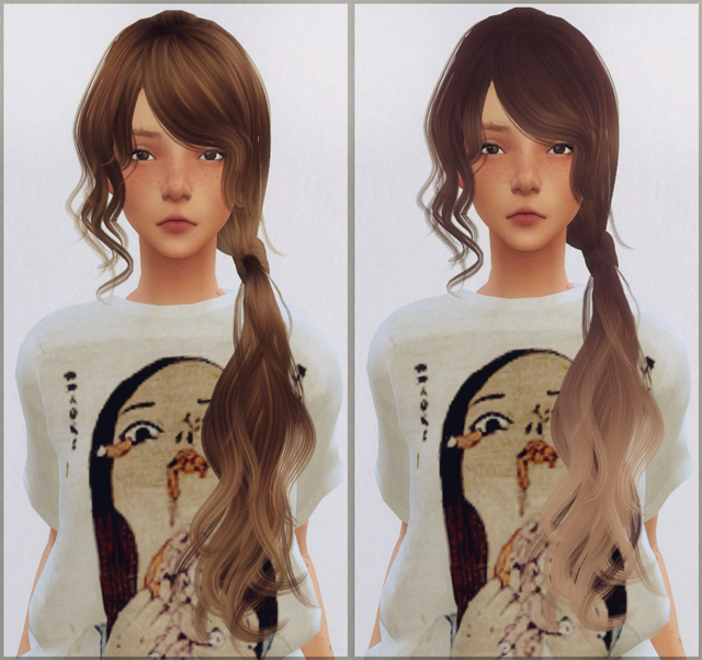 Hair conversion (Wings Flummery) by EllieSimple