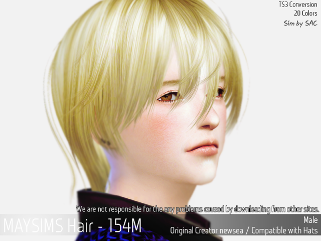 Hair 154 Male by MaySims