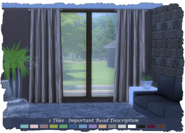 N1 Set: Paris Curtains 1-Tile by Devilicious