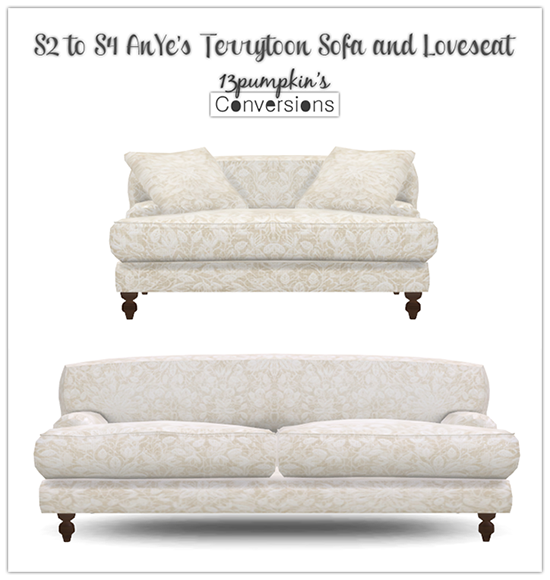 S2 to S4 AnYe Terrytoon Sofa & Loveseat by 13pumpkin