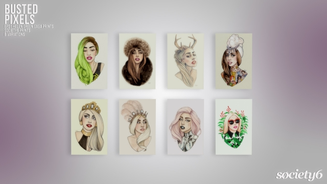 Helen Green Gaga Prints от bustedpixels