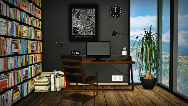 TS2 & TS3 Mid Century Modern Workspace Conversions by MXIMS