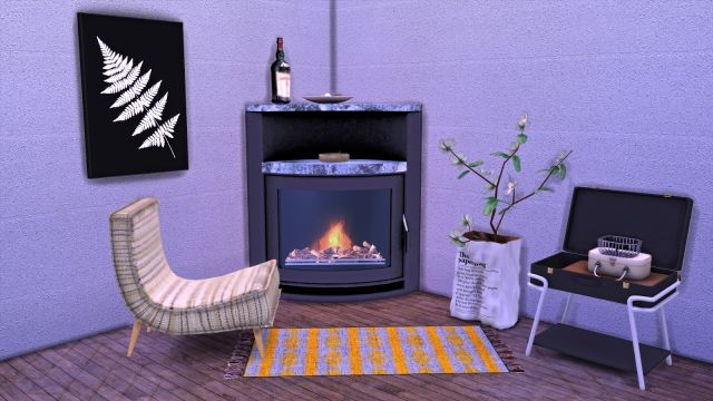 TS3 Fireplace and Armchair Conversion by Leo-Sims