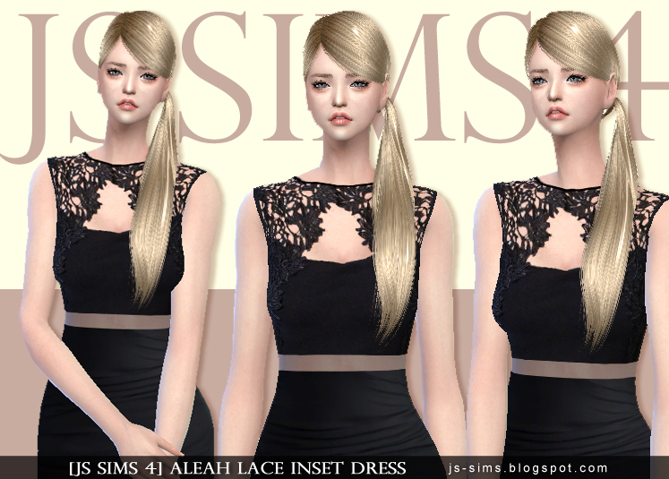 Aleah Lace Inset Dress by by JS SIMS 4