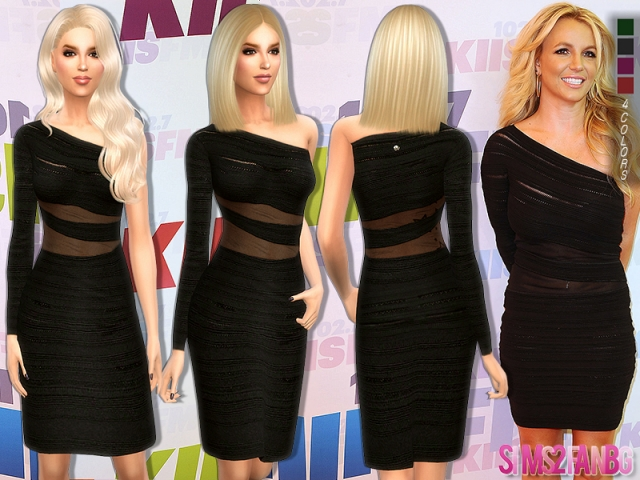 160 - Britney Spears Dress by sims2fanbg