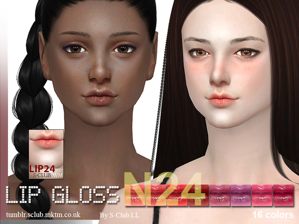 S-Club WM thesims4 Lipstick 24F