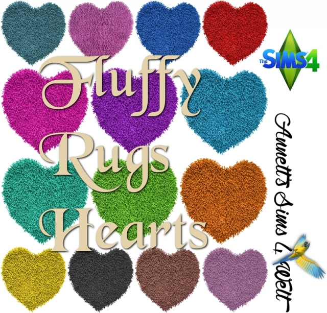 Fluffy Rugs Hearts by Annett85
