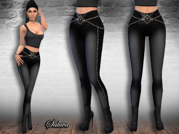 Rock Queen Leather Pants by Saliwa