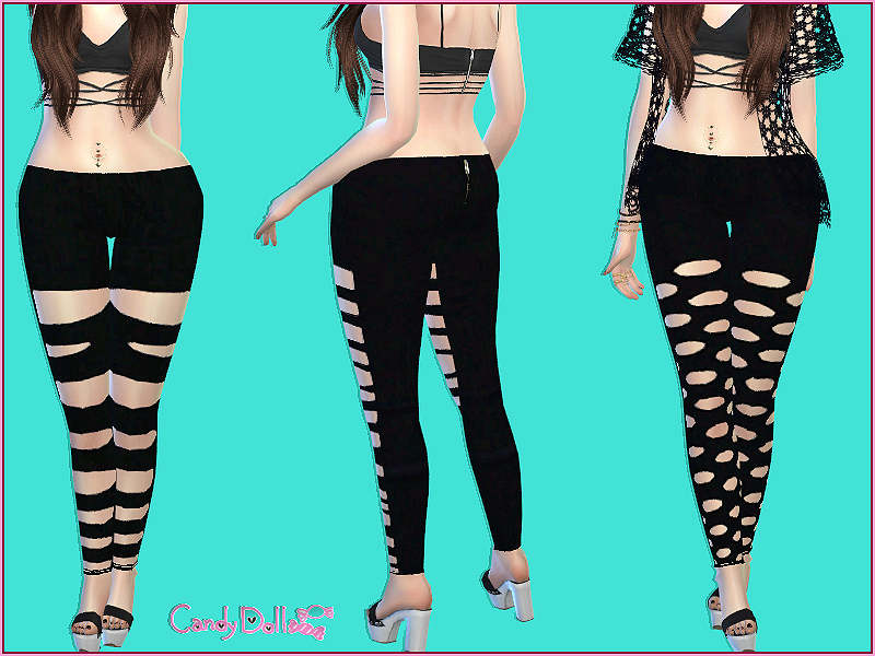 CandyDoll Cutout Leggings  BY DivaDelic06