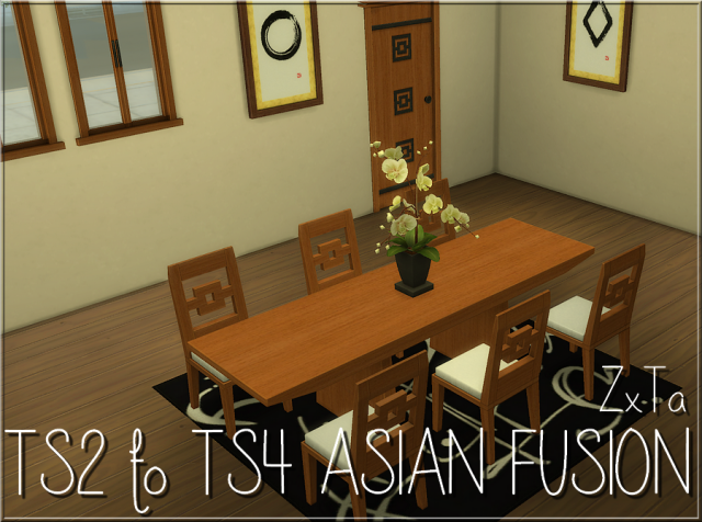 TS2 Asian Fusion Dining Set Conversion by ZxTa