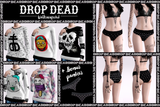 WF Drop Dead Sweater + Drop Dead Panties