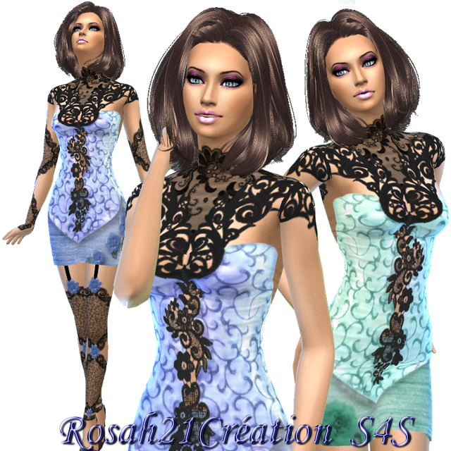 Robe corset dentelle BY ROSAH21
