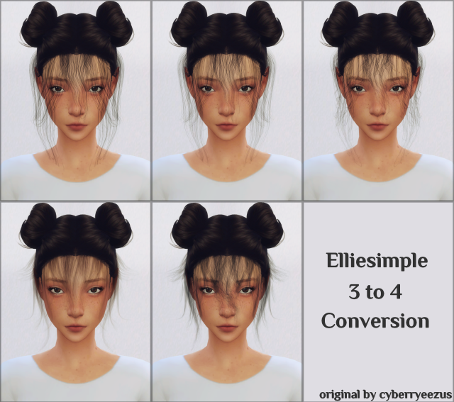 BABY HAIR CONVERSION (BY CYBERRYEEZUS ) by Elliesimple